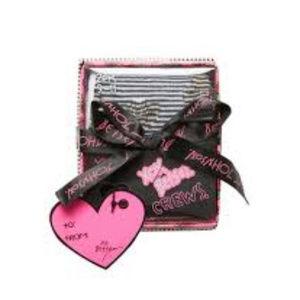 Betsey Johnson Broken Heart 2 Pair Gift Box NWT